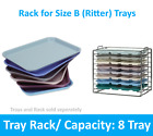 Dental Medical Chromed Steel Instrument Tray Rack for Size B Tray or 4/8 Trays