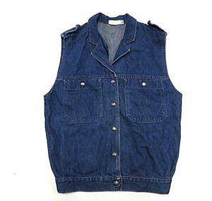 70\u2019s Boho Levi\u2019s Blue Denim Vest Women\u2019s Size Medium