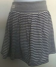 Ralph Lauren Girls Skirt/Skort Blue/Cream Stripe Foldover Waist Size 6X NWT