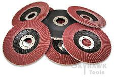 """New 10-pc. 4-1/2"""" X 7/8"""" Flap Aluminum Oxide Grinding Discs 120 Grit"""