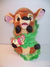 "DISNEY BABIES -- SUPER SOFT BABY BAMBI / SECURITY BLANKET -- 11"" TALL EUC"