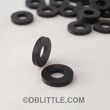 (500) PREMIUM Black Nylon #10 Washers for Rack Screws & fasteners 6/6 Polyamide