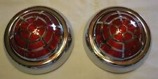 1950 Pontiac Vintage Style LED Tail Lights With SPIDER OVERLAY,Stop,Tail & Turn