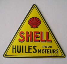More details for good french retro stove enamel shell clam motor oil badge sign man cave garage