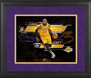 "LeBron James Los Angeles Lakers Frmd 11"" x 14"" Spotlight Photo - Facsimile Sig"