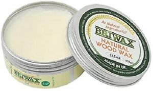 Briwax Clear Natural Wood Wax 125g Made from all natural Ingredients 100% Vegan
