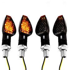 4pcs 12 LED Motorcycle Turn Signal Indicators Ambers Blinker E-mark Universal