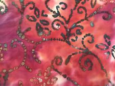 By The Yard, Pink Quilters Batik Fabric, Batik Quilting Fabric