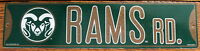 Street Sign Rams Rd. NCAA Lic.colorful picture Colorado State University