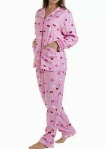 Karen Neuburger Women's Live Love Lounge Flannel Pajamas Set