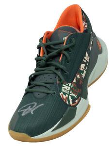 Giannis Antetokounmpo Signed Left Green Nike Zoom Freak 2 Shoe BAS ITP