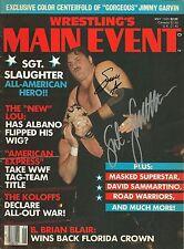 EB089 Masked Superstar & Sgt. Slaughter Autographed Wrestling Magazine w/COA
