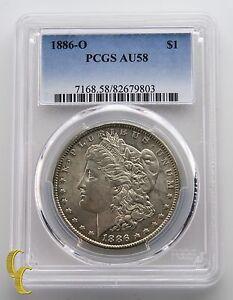 1886-O Silver Morgan Dollar $1 PCGS Graded AU58