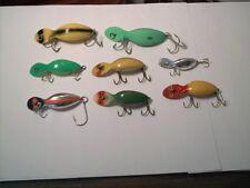 Vintage old plastic fishing lure 8 Heddon Tadpolly Spooks