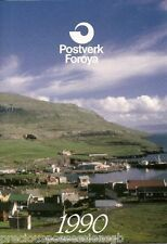 POSTVERK FOROYA FAROE ISLANDS STAMP YEAR PACK 1990 COMPLETE WITH MNH STAMPS