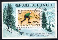 NIGER = Winter Olympics Innsbruck 1976. CTO Used.