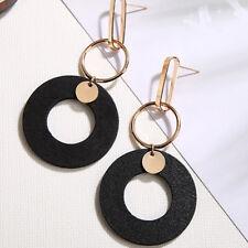 Women Multi-Color Wood Earrings All-Match Tassel Simple Long Jewelry Korean Hot
