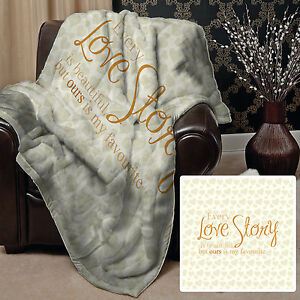 Every Love Story Valentines Day Design Soft Fleece Throw Blanket