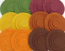 Autumn Sunset - 48 Die Cut Wool Blend Felt Circles