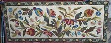 French Art Nouveau Poppies Large 5'++ Needlepoint Tapestry Hand Work Signed