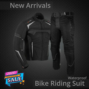 Motorbike Textile Suit Rainproof Motorcycle Riding Suits CE Armor Jacket Trouser