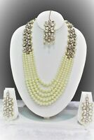 Indian Legendry Mughal Era Grand Bridal Designer Jewellery Long Necklace Set