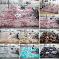 Fluffy Rug Anti-Skid Shaggy Area Carpet Dining Room Hairy Floor Mat Bedroom Home