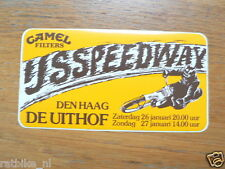 STICKER,DECAL 1980 IJSSPEEDWAY DEN HAAG UITHOF CAMEL FILTERS 26/27-1-80