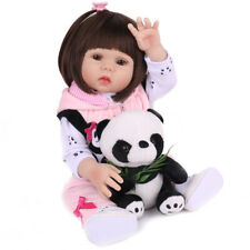 "18"" Reborn Baby Doll Full Silicone Vinyl Anatomically Gift Girl Dolls Handmade"