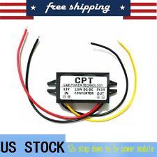 DC-DC 12V to USB 5V 3A Converter Regulator Step Down Module 3A 15W BLACK US SHIP