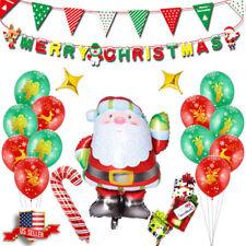 US!12'' Merry 13 PCS Christmas XMAS Party Decor Foil Balloons Banner Flag Sets