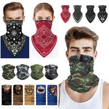 Multi Function Face Mask Shield Neck Gaiter Tube Scarf Biker Balaclava Bandana