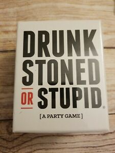 NEW Drunk Stoned Or Stupid [A Party Game] - Factory sealed