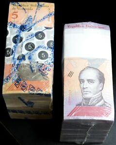 2014 & 2018 Venezuela $5 & $10 Bolivares UNC 2 Bricks 2000 Pcs New UNC SKU418