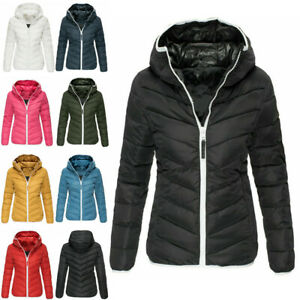 New Ladies Quilted Padded Puffer Bubble Collar Warm Thick Womens Jacket Coat Top