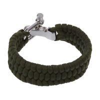 7 Strand survie Weave militaire Bracelet cordon Buckle - Vert B2E2