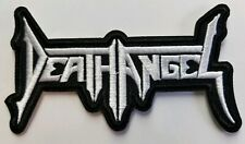 Death angel white logo  embroidered  IRON ON , OR SEW  PATCH