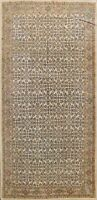Antique Vegetable Dye Mahal Geometric Area Rug Hand-knotted Oriental Wool 7'x12'