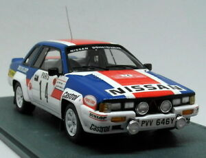 Bizarre 1/43 Scale BZ334 Nissan 240RS Monte Carlo Rally 1984 Resin Model Car