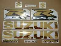 GSX-R 600 chrome gold custom decals stickers graphics kit set golden srad gixxer