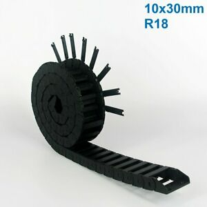 10x30mm R18 Nylon Energy Drag Chain Cable Wire Carrier CNC Router 3D Printer Mil