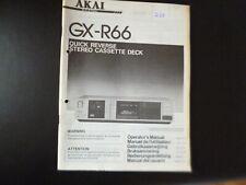 Original Bedienungsanleitung Akai GX-R66