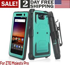 Phone Case ZTE Majesty Pro / Pro Plus Heavy Duty Belt Clip Holster Rugged Teal