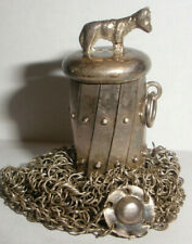 New listing Vintage Continental silver mesh purse with dog finial