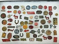 RARE FRAME OF ASSORTED EARLY AMERICAN TOBACCO TAGS - LARGE RARE COLLECTION