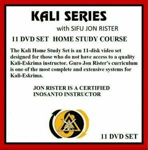 KALI HOME STUDY 11 DVD SET escrima wing chun sticks jon rister kung fu jkd arnis