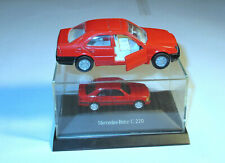 2 x Mercedes Benz C 220 Limousine Rot 1:87 Siku Herpa Modellauto 1:55 Vintage