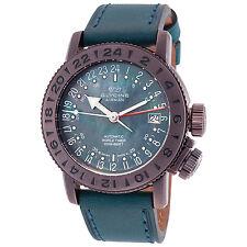 Glycine Unisex 3918.179N.LB2U Airman 18 GMT Automatic Mother of Pearl Watch