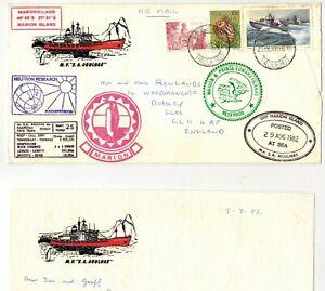 RSA 1982 RESEARCH SHIP M.V. 'S.A. AGULHAS' PAQUEBOT & VARIOUS CACHETS VOYAGE 25