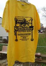 New Jerzees Dri-Power Active Yellow Studebaker Zone Meet T-Shirt Sz Mens Medium